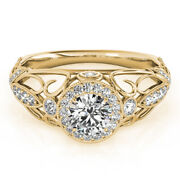Fine 14k Yellow Gold Solitaire Ring Round 1.00 Ct Real Diamond Engagement Band 7