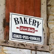 New Farmhouse Vintage Fresh Bakery Cake Pie Cookie Sign Metal Wall Hanging 19