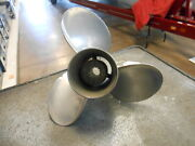 Michigan Wheel Used Stainless Steel 12 Pitch Propeller For Mercury