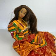 Vintage 80and039s African American Barbie Doll Mattel 1980and039s Colorful Dress Francie