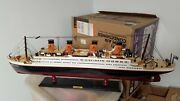 Rms Titanic 40 Inch Wooden Model Cruise Liner Handcraft Museum Quality New
