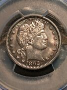 1892 Barber Quarter Pcgs Ch-gem Uncirculated Rare 1st Year Of Issue Gem