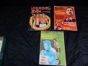 Vintage 1960's The Ring Boxing Magazine Lot 3 Pc, 1960, 1966 And 1968