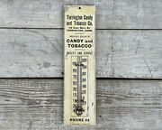 Torrington Candy And Tobacco Advertising Thermometer Sign Connecticut New England