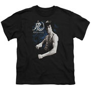 Bruce Lee Dragon Stance Kids Youth T Shirt Licensed Martial Arts Tee Black
