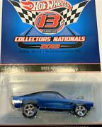 Hot Wheels13th Collectors Nationals 2013 Boss Hoss Htf Chase Car Th Metalic Blue