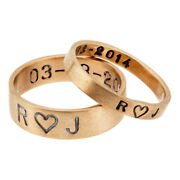 Special Sale Couple Ring Solid 14k Yellow Gold Plain Band All Size Available