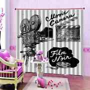 Old Nice Machine Printing 3d Blockout Curtains Fabric Window Home Decor