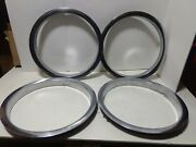 Stainless Beauty Trim Rings Wheel Trim Ford Chevy Dodge Gm Set Of 4