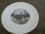 Boar Schumann Arzberg Germany Gold-rim China Plate Bavaria Just For You