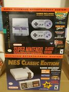 Nintendo Nes And Snes Classic Edition Bundle Authentic New Never Opened Box