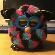 2012 Hasbro Furby Boom Blue Pink Black Triangles Talking Interactive Toy