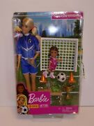 Barbie Kids' You Can Be Anything Soccer Coach Blonde Doll And Playset Read Descr