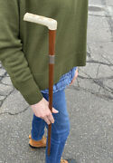 Rare Masonic Walking Stick W Silver Fittings Handle Fitted W Silver Pipe Tools