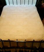 Antique Vintage Hand Crocheted Bedspread Coverlet Star Pattern 75x92 Excellent