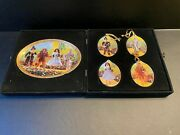 1997 Wizard Of Oz Plate And Ornaments In Case enesco Barbie And Ken Numbered