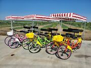 4 Seater Surrey Bicycle Tandem Assorted Colors For Spring-summer-autumn