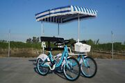 2 Seater Surrey Bicycle Tandem Assorted Colors For Spring-summer-autumn