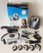 Plantronics Cs55 Wireless Office Headset System In Box + Multiple Accessories