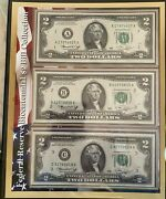 12 Us 2 Bills - Unc, Bep, 12 Federal Reserve District Collection