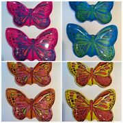 Andy Warhol Butterfly Melamine Plates Set Of 8