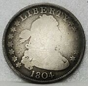 1804 Draped Bust Quarter Nearly Good Details - Very Scarce And Problem Free Coin