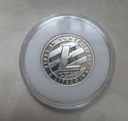 Lealana Physical Crypto 5 Ltc Unloaded Coin Made From Of 1/4 Oz 999 Silver