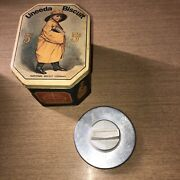 Vintage Travco Patty Press And Uneeda 5 Cents Biscuit Tin Bristol Ware For Nabisco