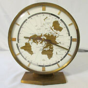 1970s Elgin Modernist Kieninger And Obergfell World Mantle Clock Made In Germany