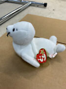 Very Rare Seamore Ty Beanie Baby White Seal Style 4029 Pvc Pellets 1993