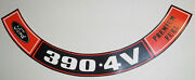 Ford Mustang 390 4v Premium Fuel Air Cleaner Decal 479 9.95 Includes Shipping