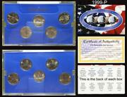 1999-p State Quarter Unc. Coin Set Cable Shopping Network Original Packaging