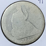 1875 S United States Seated Liberty Half Dollar 50c .900 Silver Coin