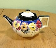 Royal Doulton=pansies=teapot And Lid=d4049=england=1917-30=stunning