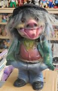 Vintage Large10 Figure Bobble Head Troll Heico Made In Germany 1970s