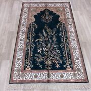 Yilong 3and039x5and039 Handmade Silk Rug Antique Home Indoor Easy To Clean Carpet 066b