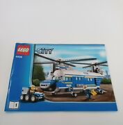 Lego City Heavy Lift Police Helicopter Instruction Manuals Only 4439 Books 1 And 2