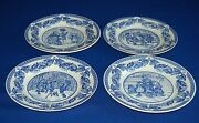 Spode Victorian Children Plate Collection Christmas Series 4 Designs 1 Of Each.