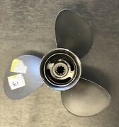 Aluminum 3 Blade Rh Prop Fits Mercury 9.9-25hp 9 7/8x11.25f Newly Reconditioned