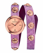 Womens Ip Rose Gold Versace Watches Medusa Stud Icon Verf00518
