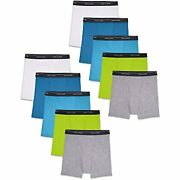 Fruit Of The Loom Boys' Big Boxer Briefs Assorted Colors, Traditional Fly - 10