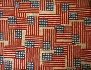 Longaberger Rare Retired Old Glory Flag Fabric - New - Shop Store Unique Items
