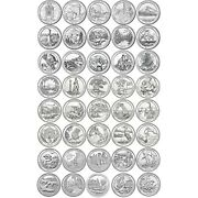56 Coins - Complete Set 2010-2021 America The Beautiful Quarters - Circulated