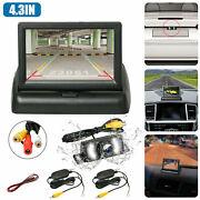 Wireless Rear View Back Up Camera Night Vision System+4.3 Monitor For Car Truck