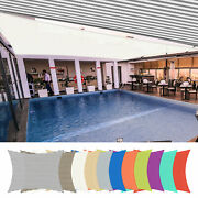 2pack 19x13ft/23x20ft/23x22ft Uv Block Rectangle Shade Sail Canopy Outdoor Pool