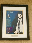 Ac/dc Signed Framed Poster - Loa Psa/dna - Angus And Malcolm Young