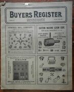 Buyer's Register 1926 American Trade Catalogue Mechanical Parts Mail Order