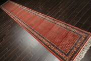 2and0396 X 19and0399andrdquo Hand Knotted Wool Boteh Paisley Oriental Area Rug Terracotta Runner