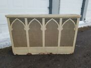 Vintage Acme Metal Radiator Cover With Lid Approx 61 X 38 X 10