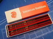Vintage Staedtler Tradition Nos Woodcased Drafting Tool Drawing Pencils